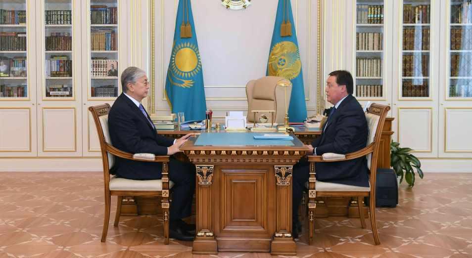 Мамин доложил Токаеву о санитарно-эпидемиологической ситуации в стране