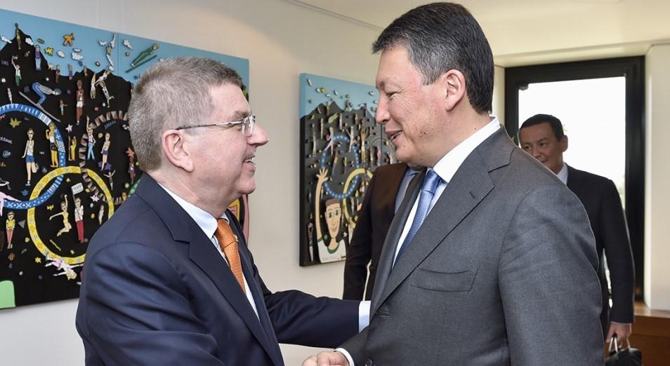 Тимур Кулибаев поздравил переизбранного президента МОК Томаса Баха