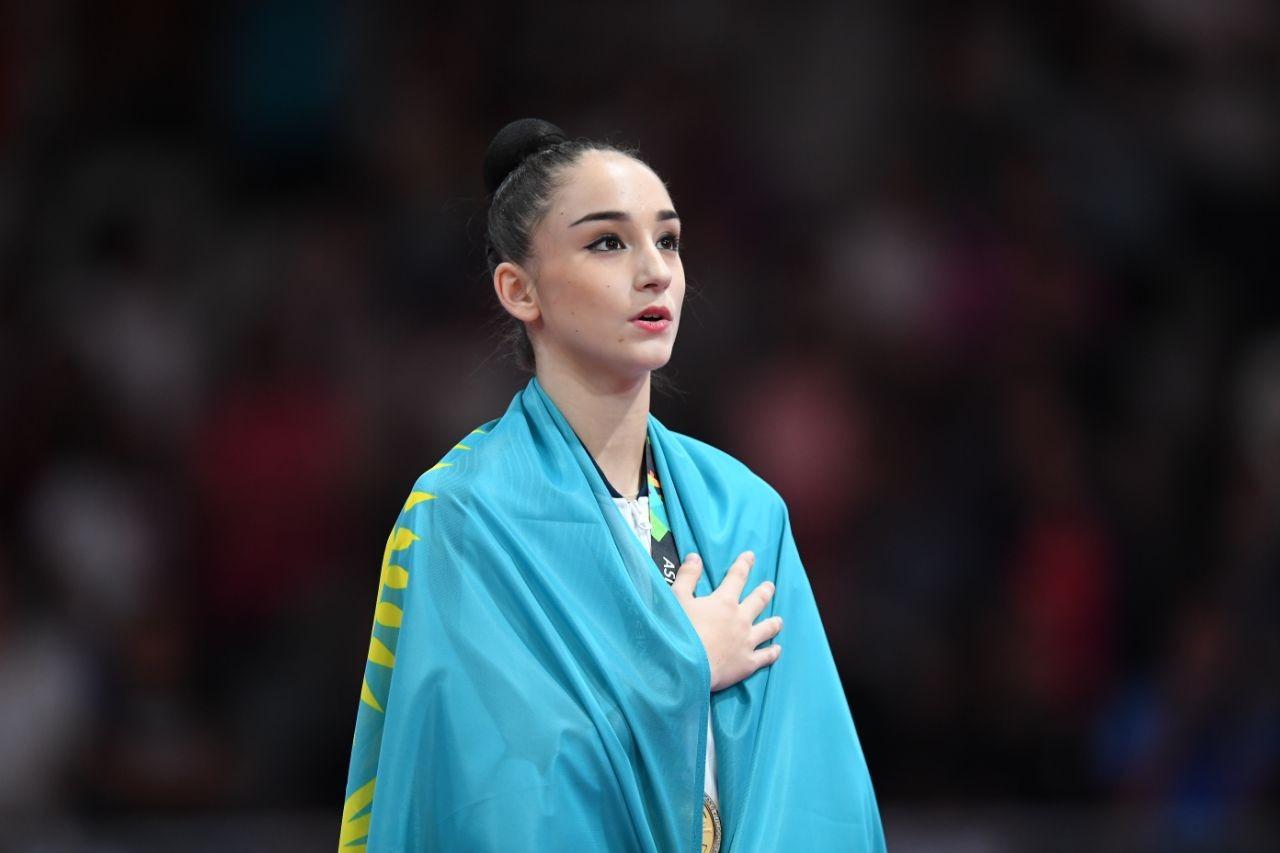 Адилханова завоевала золото чемпионата Азии по художественной гимнастике
