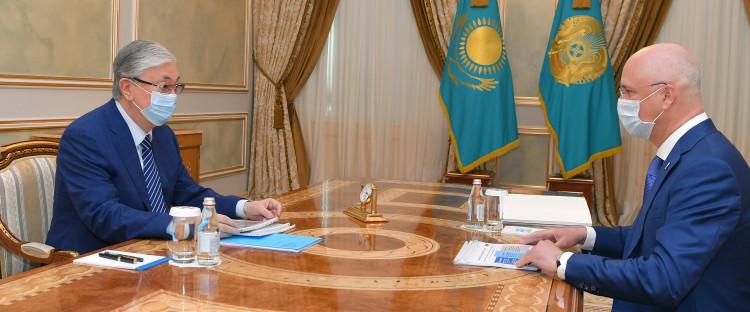 Роман Скляр рассказал главе государства о работе по развитию машиностроения в Казахстане