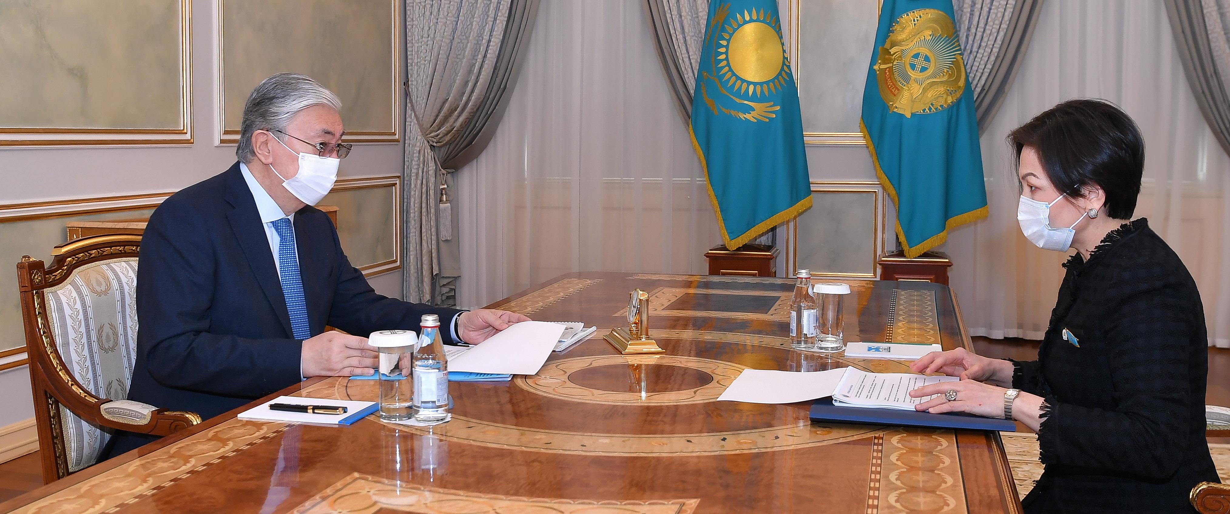 Председатель Национальной комиссии по делам женщин доложила Касым-Жомарту Токаеву о планах на предстоящий период