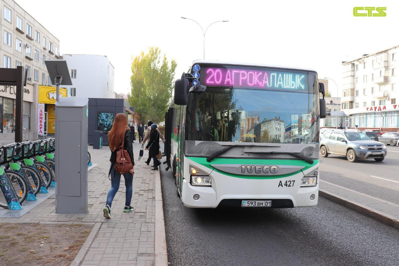 Год назад общественный транспорт Нур-Султана стал бесплатным для детей