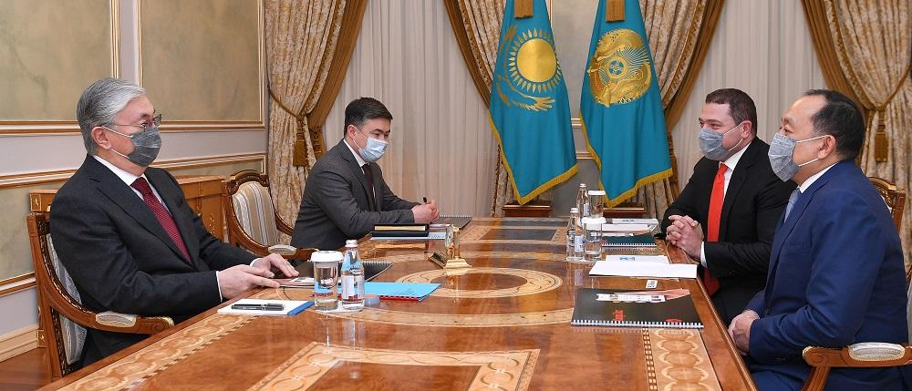 Что обсуждал президент РК с основателями компании Kaspi.kz