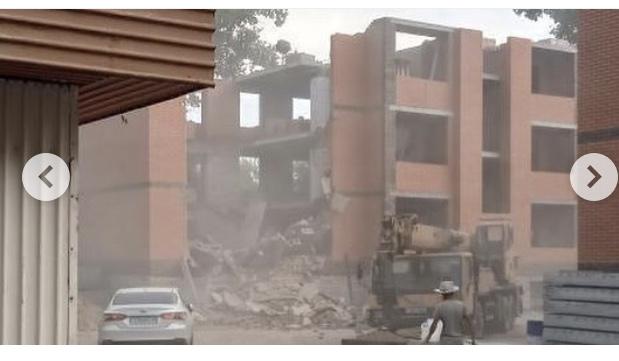 В Павлодаре произошло обрушение строящегося жилого дома