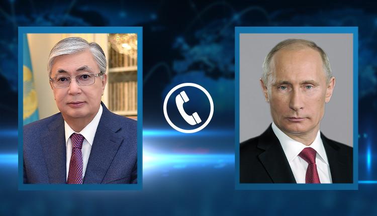 Токаев и Путин обменялись поздравлениями по случаю 76-й годовщины Великой Победы