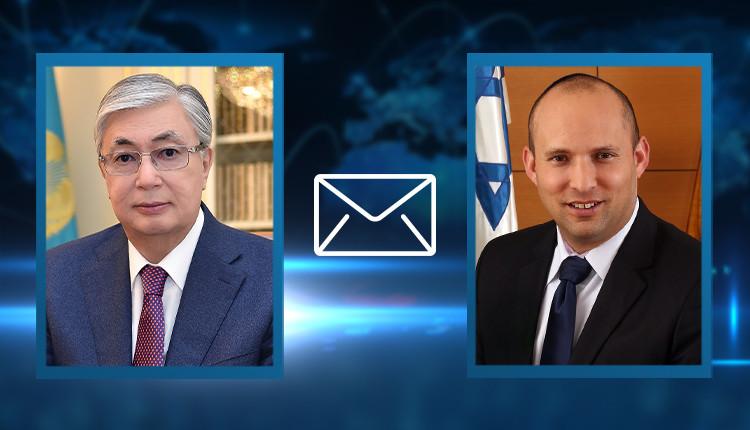 Касым-Жомарт Токаев поздравил со вступлением в должность премьер-министра Израиля