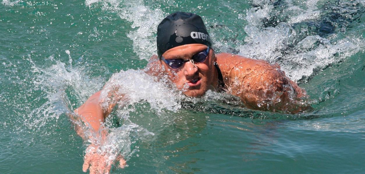 Виталий Худяков завоевал еще одну золотую медаль чемпионата Казахстана по плаванию на открытой воде