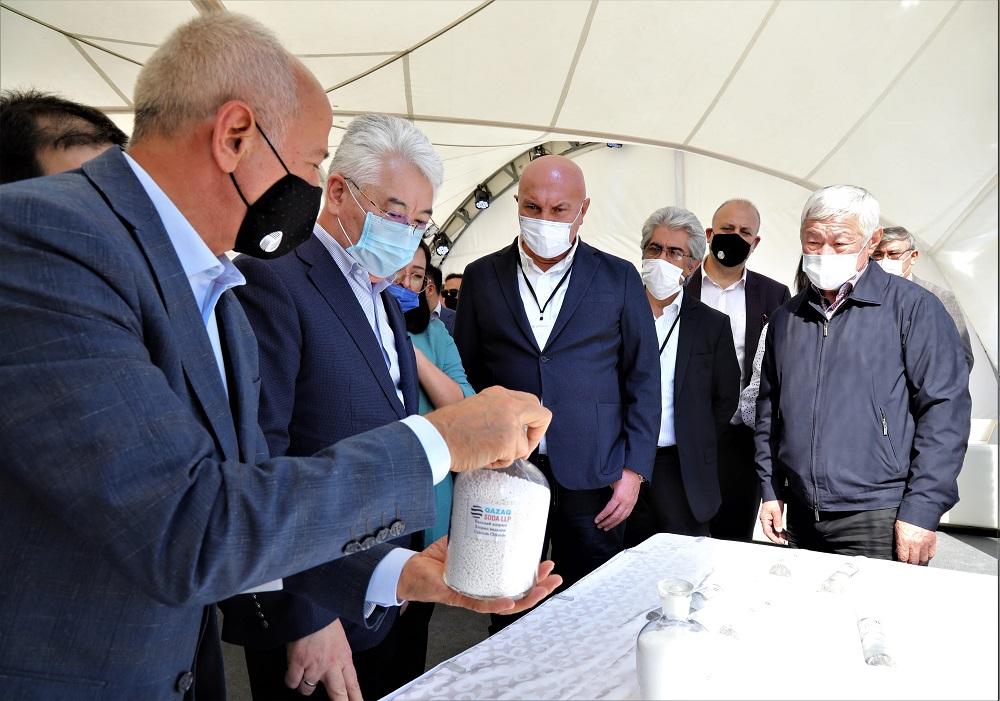 Жамбыл облысында кальцийленген сода шығаратын зауыттың құрылысы басталды