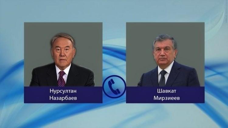 Состоялся телефонный разговор между Нурсултаном Назарбаевым и Шавкатом Мирзиёевым