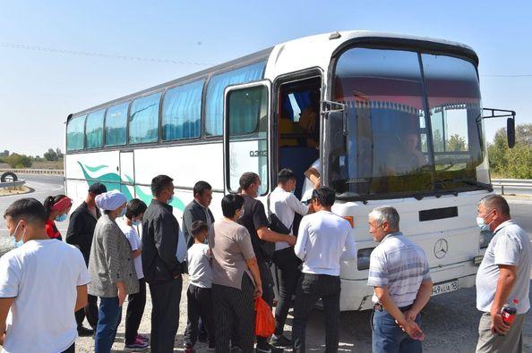 Ертіс өңіріне көшуге ниеті бар 30 түркістандық жолға шықты