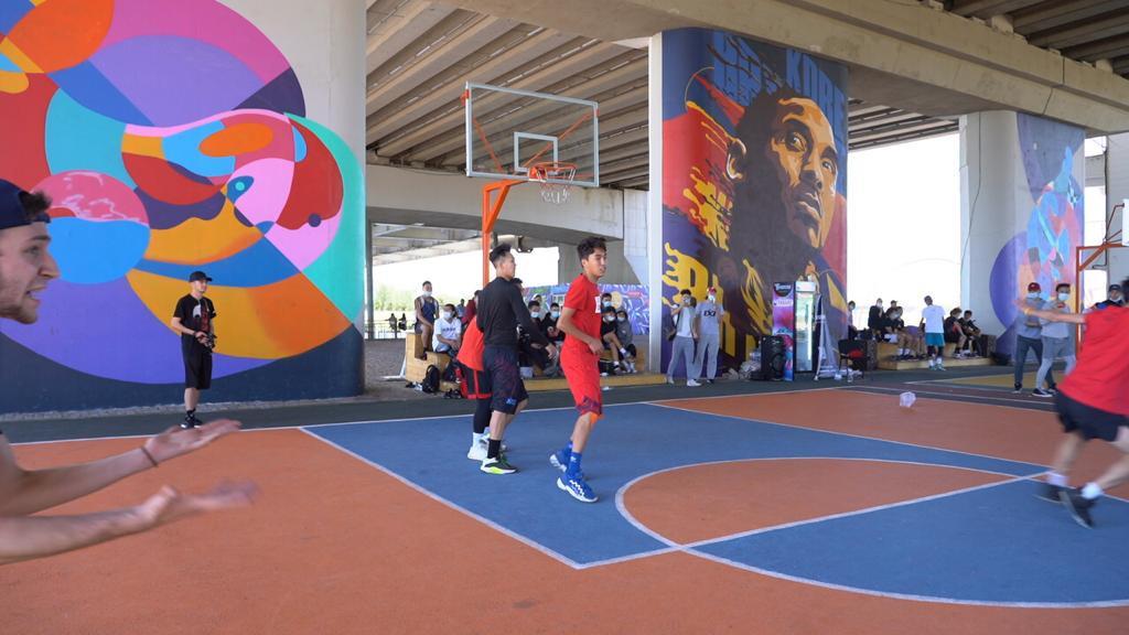 Елордада көше баскетболынан турнир өтіп жатыр