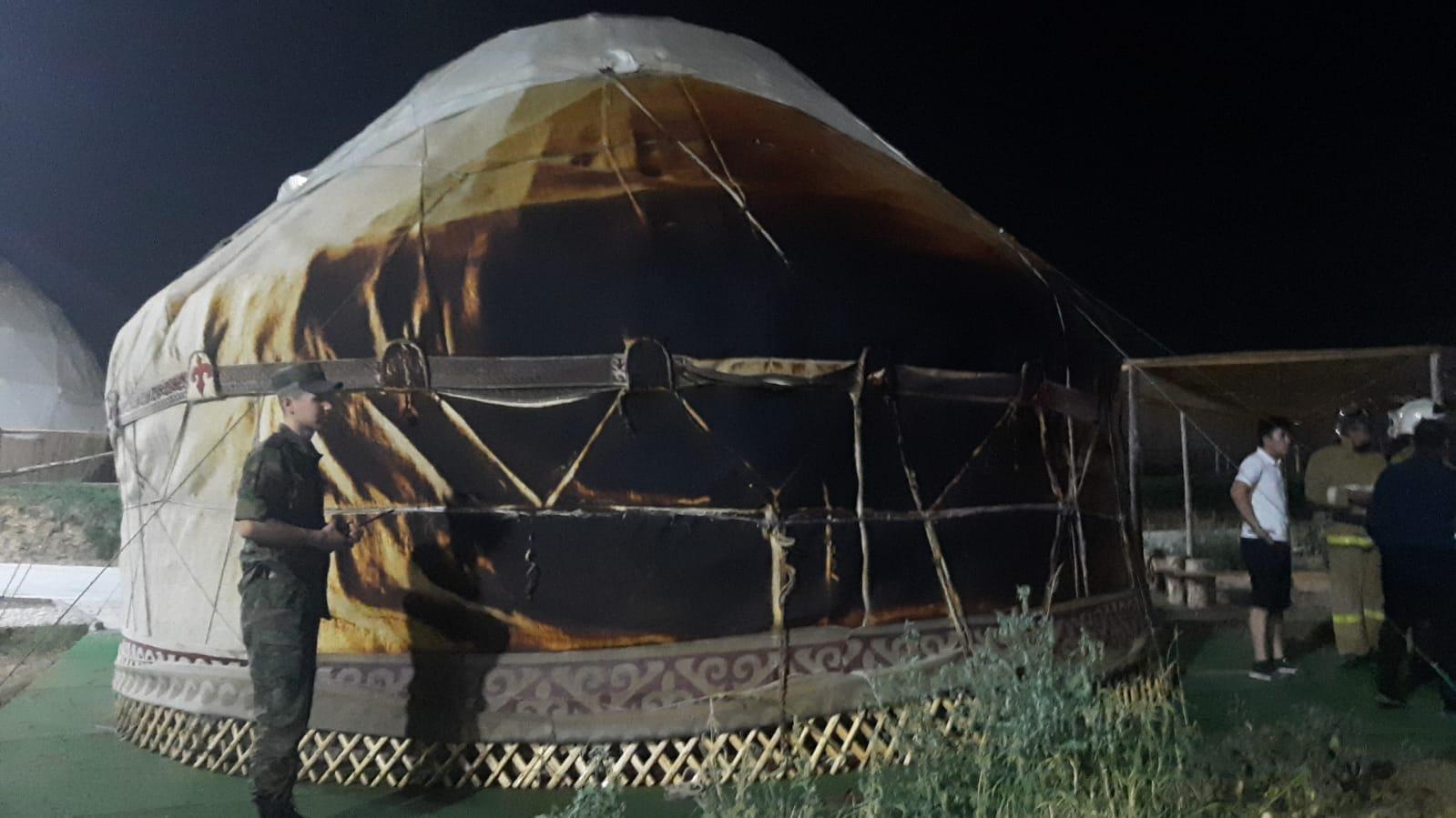 «Шымқала» этноауылындағы өрт сөндірілді