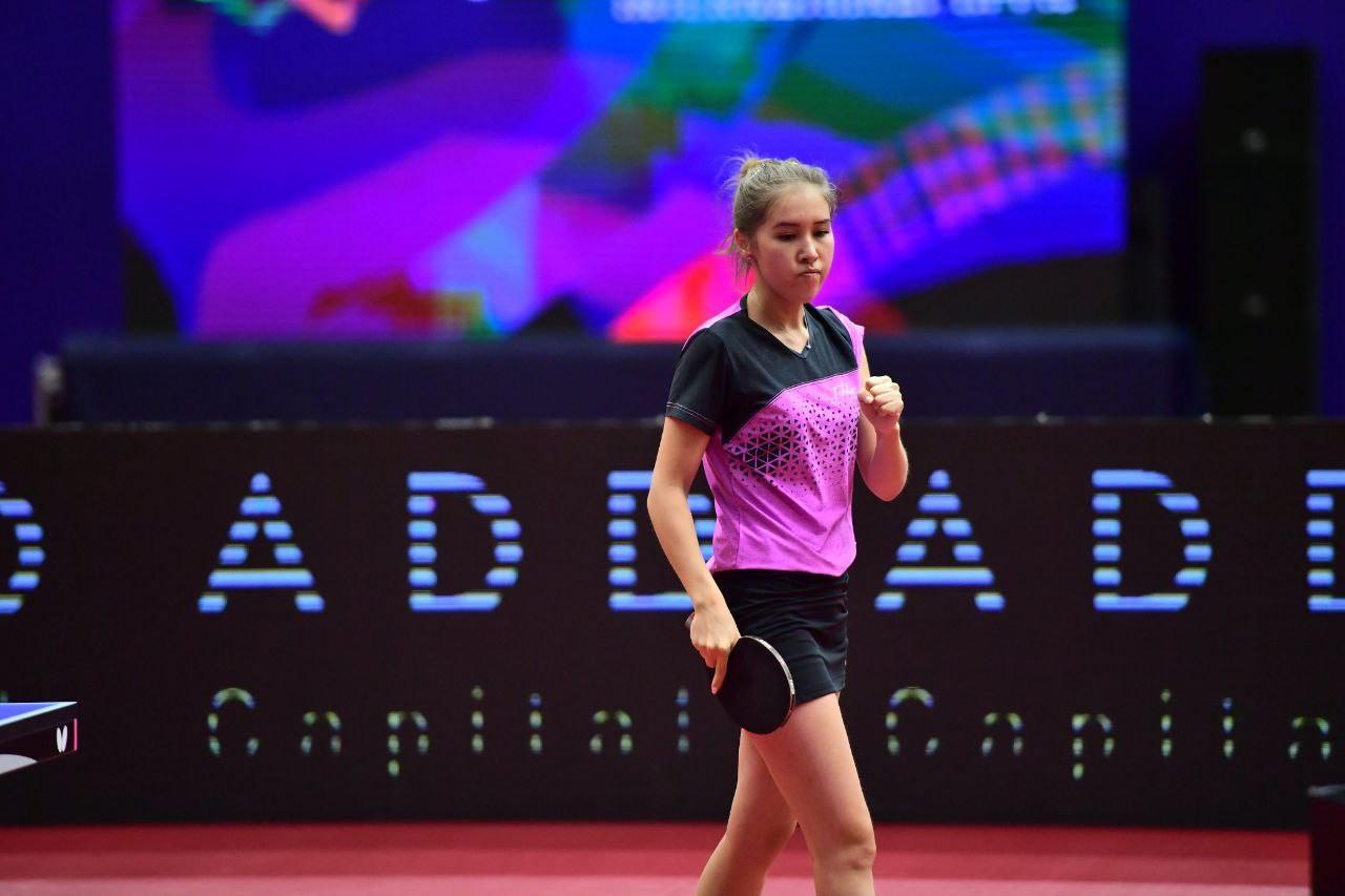 Айя Алимбаева стала бронзовым призером 2021 ITTF Kazakhstan International Open