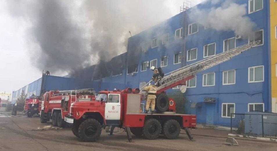 Кому принадлежит здание торгового центра, горевшего в Нур-Султане?