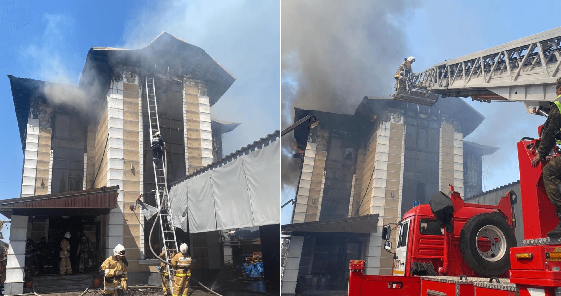 В микрорайоне Горный гигант в Алматы потушили пожар