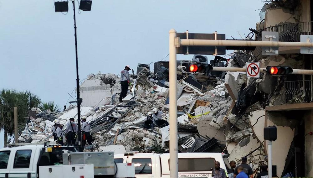 Число погибших при обрушении здания в Майами достигло пяти человек