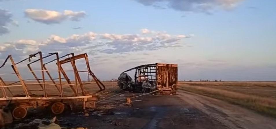 Два человека и 39 лошадей погибли при столкновении большегрузов в ЗКО