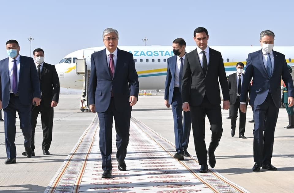 Касым-Жомарт Токаев прибыл с государственным визитом в Ашхабад