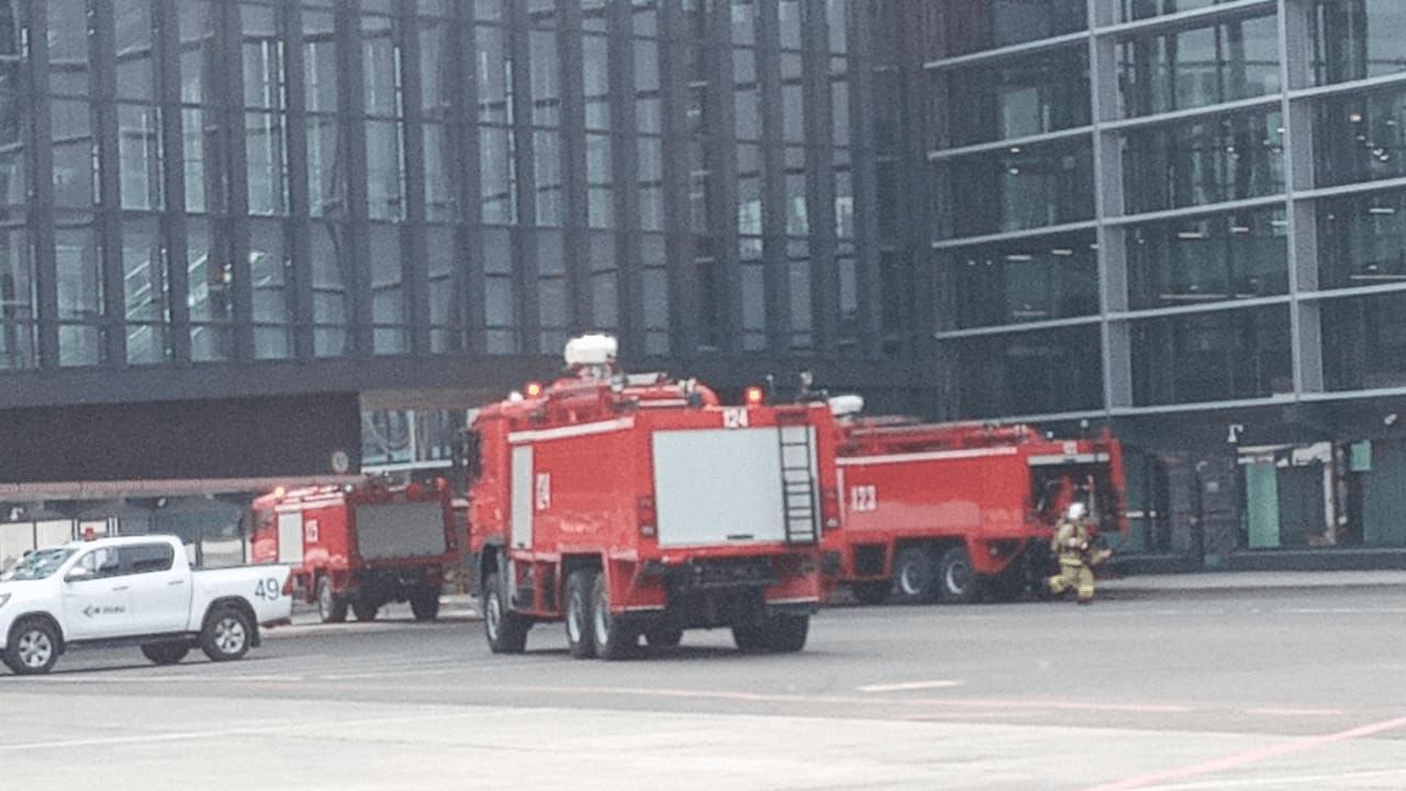 Из-за замыкания кабеля в международном терминале аэропорта Нур-Султана произошло задымление