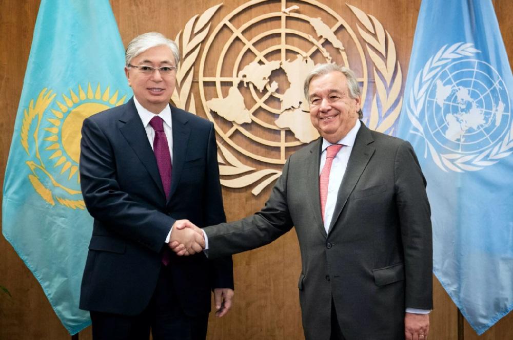 Генсек ООН поблагодарил Токаева за размещение миссии по Афганистану в Алматы