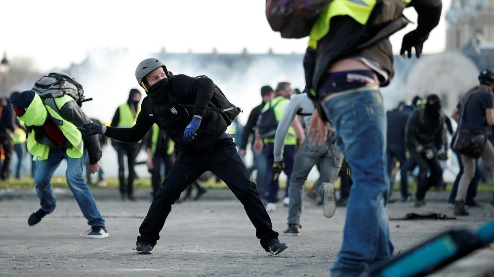 Девятую субботу подряд на улицы французских городов выходят противники санитарных паспортов