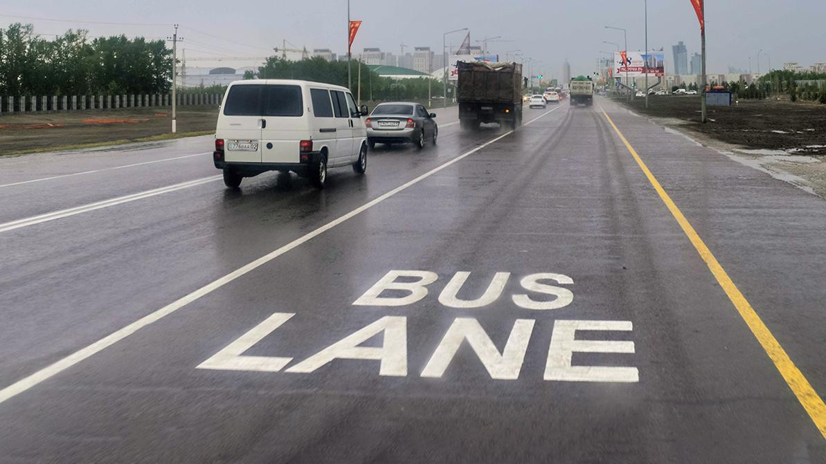 Автобусную полосу отменили на одной из улиц Нур-Султана
