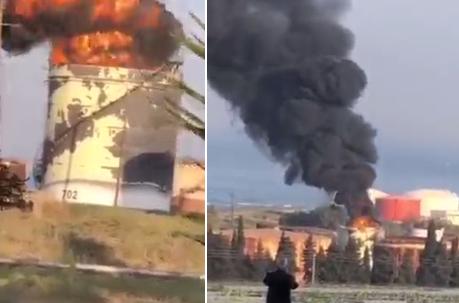 Нефтяной комплекс загорелся в Ливане