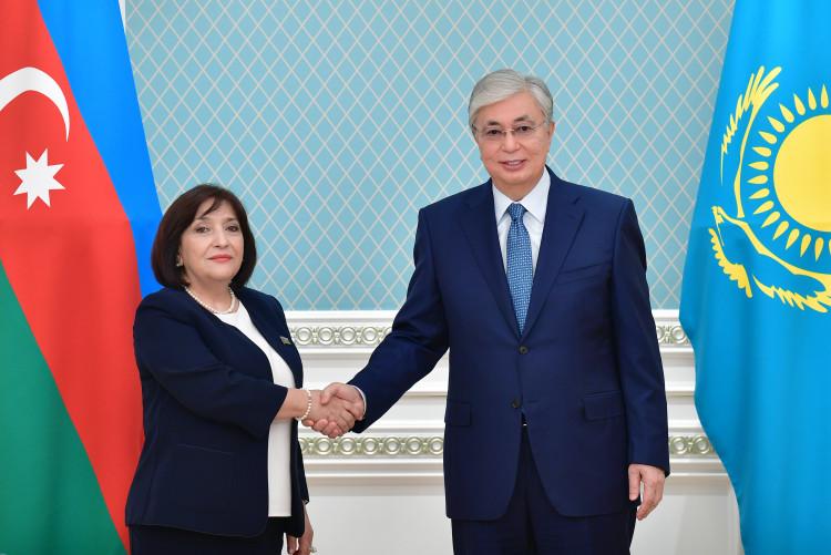 О чем президент РК говорил с председателем милли меджлиса Азербайджана