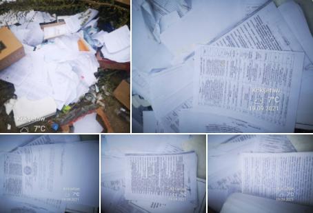Служебные документы и личные дела сотрудников полиции нашли на мусорке в Кокшетау