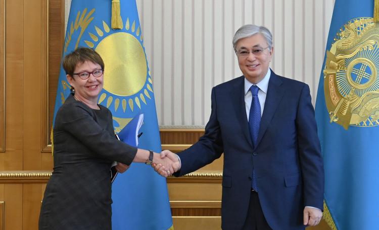 Токаев обсудил сотрудничество с президентом Европейского банка реконструкции и развития