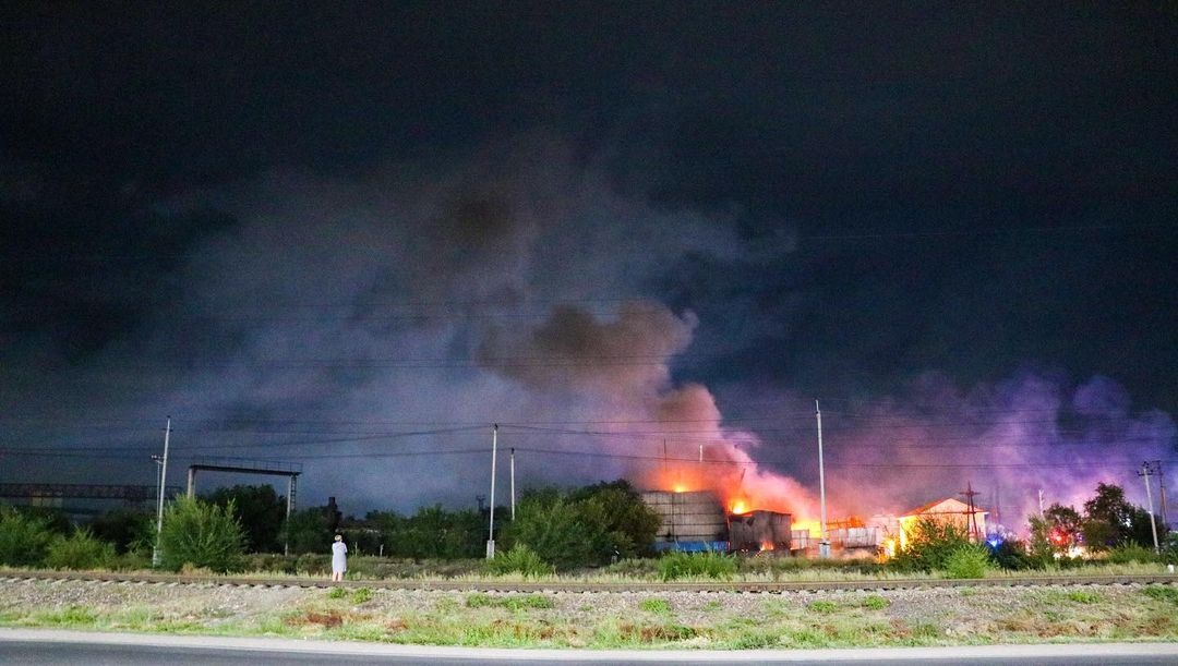 Взрыв произошел в Талдыкоргане