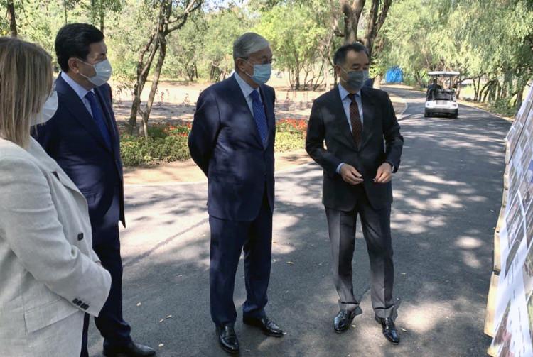 С чего начался визит Токаева в Алматы