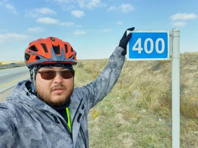 Путешественник на велосипеде объедет весь Казахстан