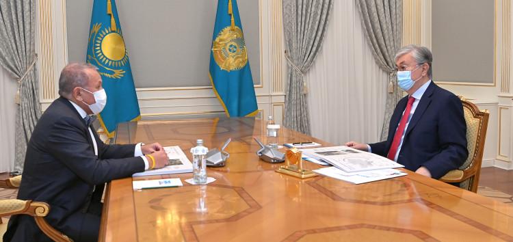 Касым-Жомарт Токаев принял основателя и руководителя Astana Group Нурлана Смагулова