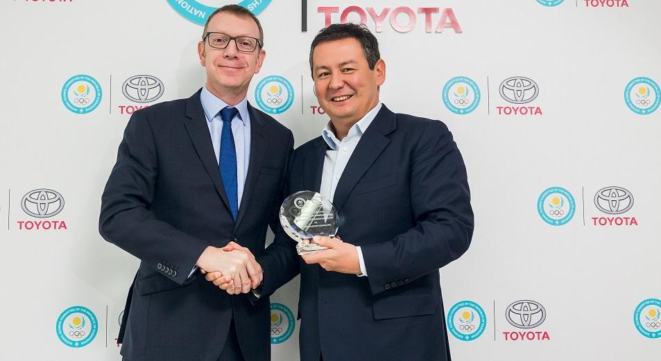 Toyota присоединилась к олимпийской семье Казахстана