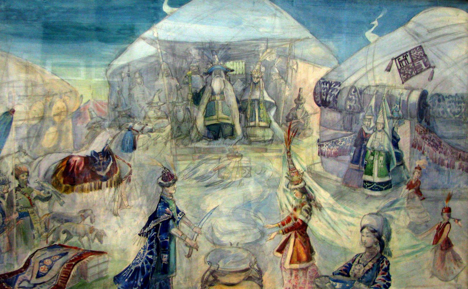 Казахстанские произведения искусства представили англичанам