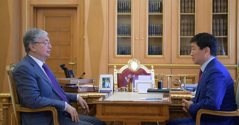 Президент Казахстана принял первого заместителя председателя партии Nur Otan Бауыржана Байбека