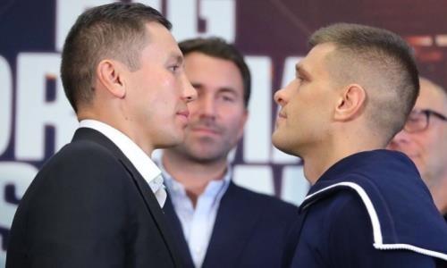 Головкин в бою с нокдауном победил Деревянченко и стал чемпионом мира по версиям IBF и IBO