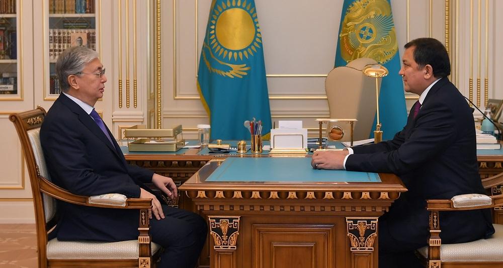 Глава государства принял министра энергетики Нурлана Ногаева