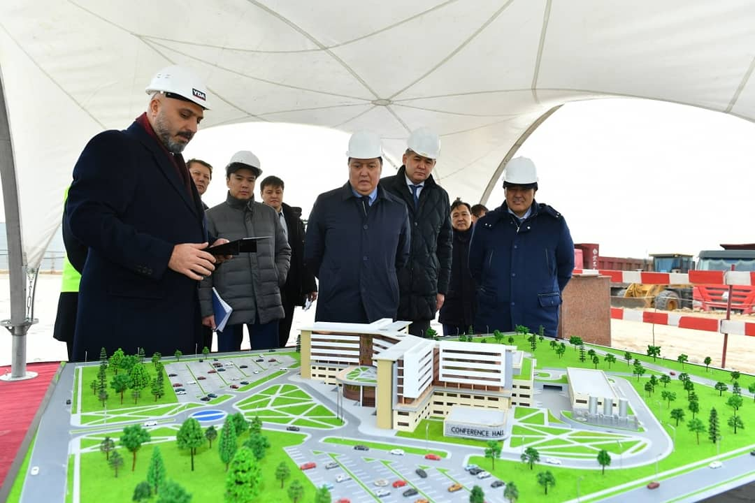 В Туркестанской области заложили капсулу под строительство многопрофильной больницы