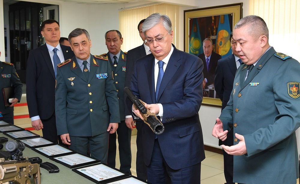 Президент Қарулы Күштер Бас барлау басқармасының штаб-пәтеріне барды
