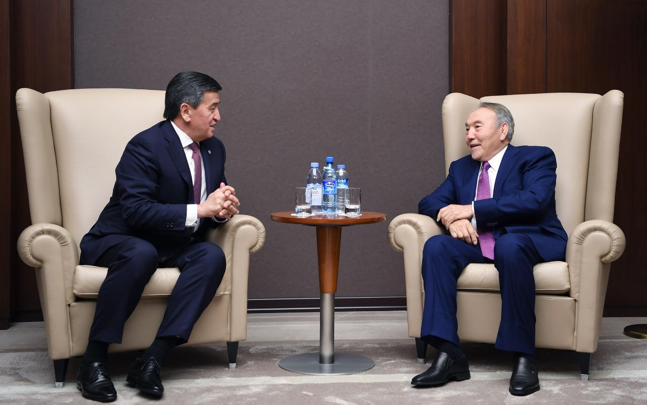 Нурсултан Назарбаев встретился с Сооронбаем Жээнбековым