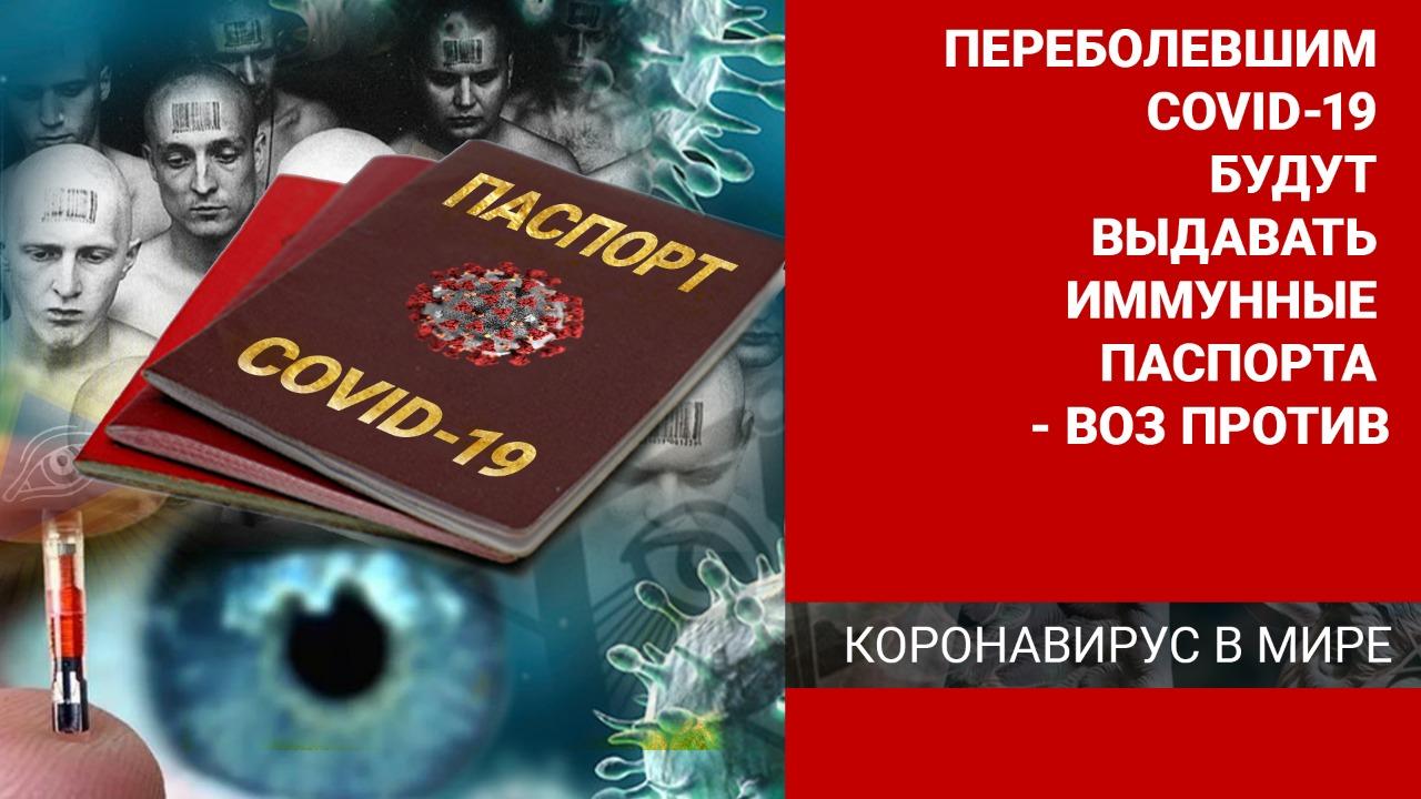 Переболевшим COVID-19 будут выдавать иммунные паспорта – ВОЗ против