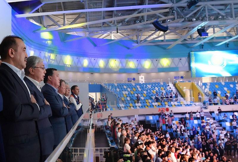 Касым-Жомарт Токаев посетил новый Дворец единоборств Jekpe-Jek