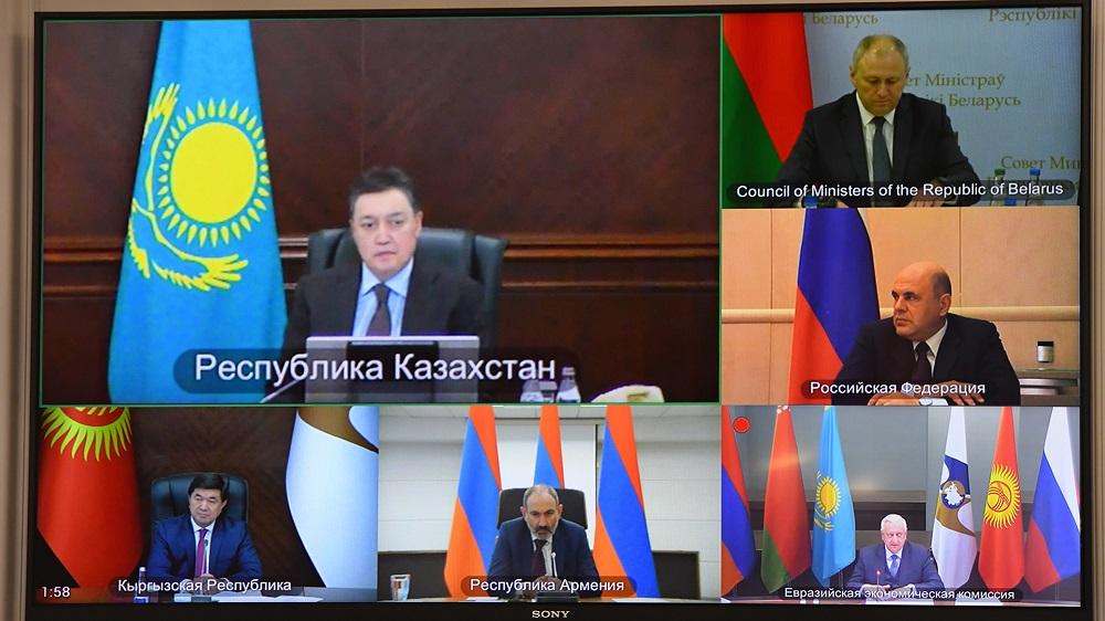 ҚР Премьер-Министрі А. Мамин ЕҮАК кезектен тыс отырысына қатысты