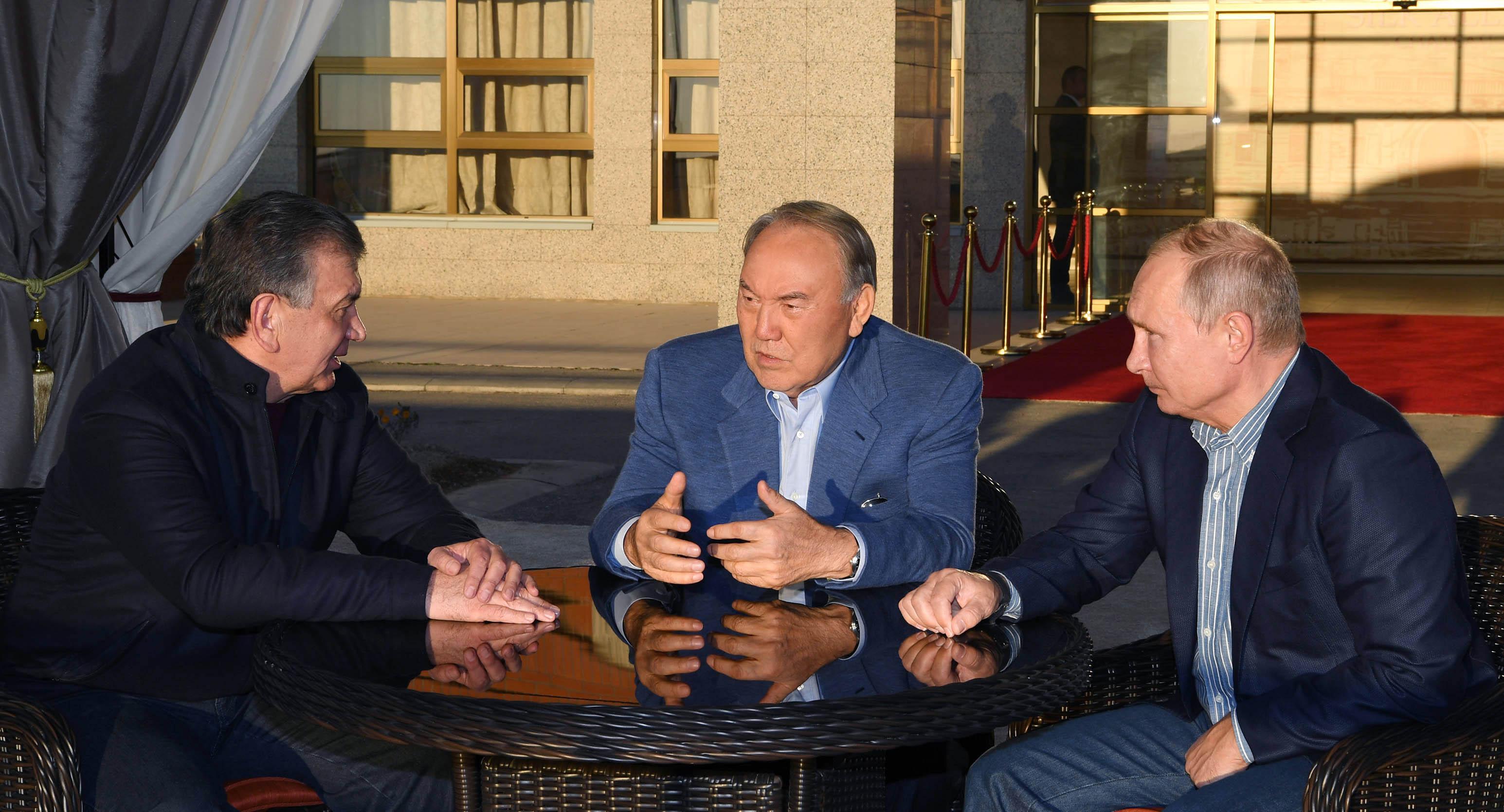 Нурсултан Назарбаев встретился с Владимиром Путиным и Шавкатом Мирзиёевым