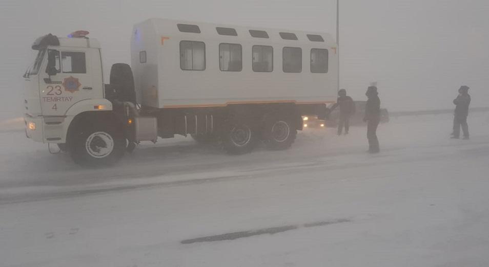 На одном из участков трассы Темиртау – Нур-Султан нельзя спасать людей