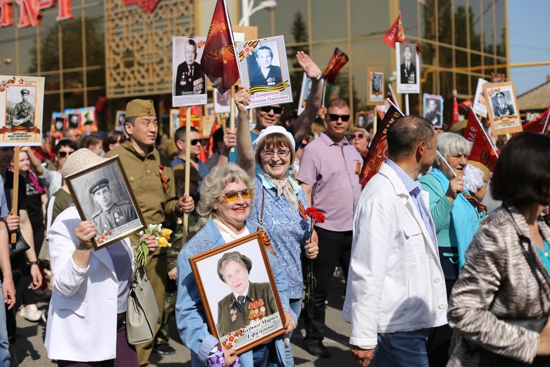 Около 20 тысяч человек приняли участие в акции «Бессмертный полк» в Нур-Султане