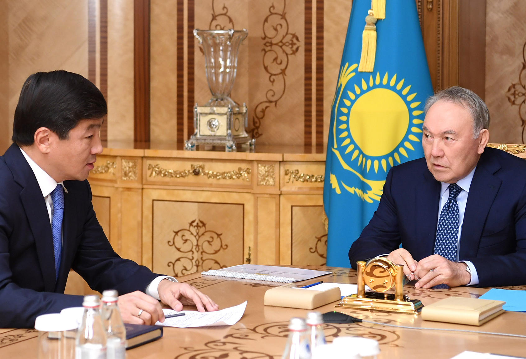 Нурсултан Назарбаев принял первого заместителя председателя партии Nur Otan Бауыржана Байбека