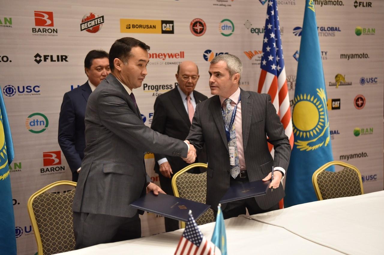 В ходе казахстанско-американского бизнес-форума подписано восемь двусторонних документов